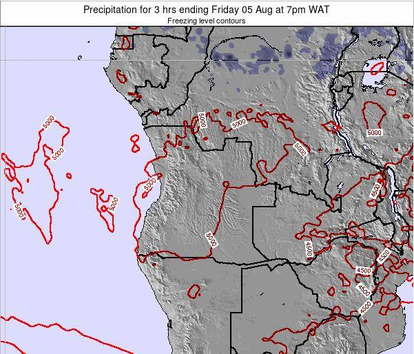 Angola Precipitation for 3 hrs ending Wednesday 30 Apr at 1am WAT