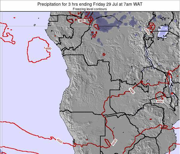 Angola Precipitation for 3 hrs ending Friday 14 Mar at 1am WAT