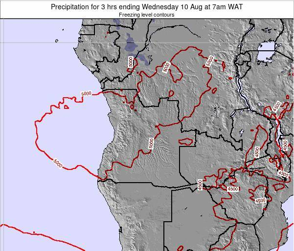Angola Precipitation for 3 hrs ending Friday 22 Dec at 1pm WAT map