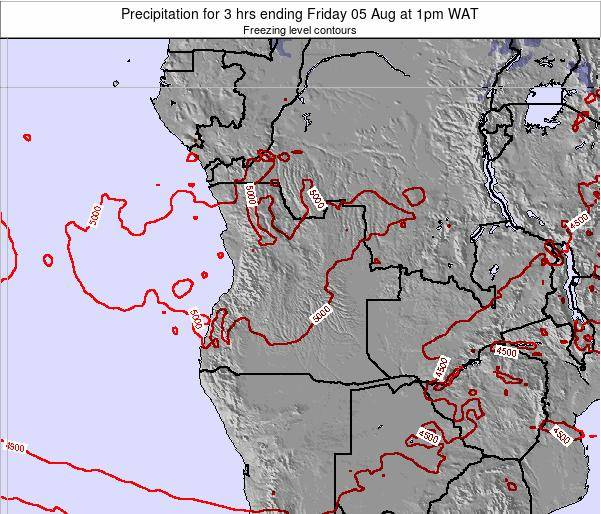 Angola Precipitation for 3 hrs ending Friday 25 Apr at 7am WAT