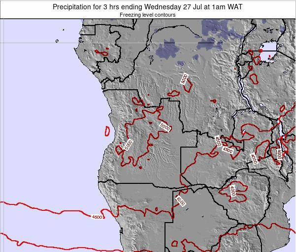 Angola Precipitation for 3 hrs ending Thursday 30 Nov at 7am WAT map