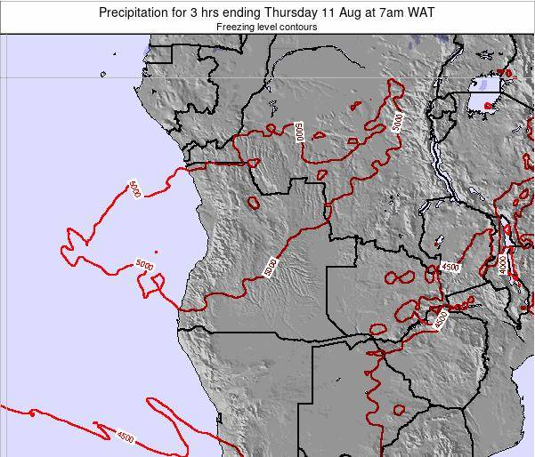 Angola Precipitation for 3 hrs ending Saturday 29 Sep at 1pm WAT map