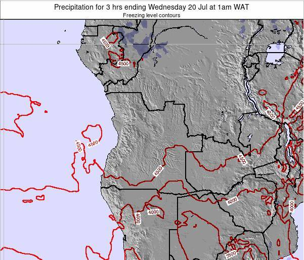 Angola Precipitation for 3 hrs ending Wednesday 13 Dec at 7pm WAT map