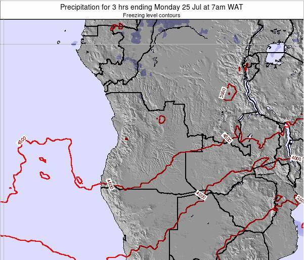 Angola Precipitation for 3 hrs ending Wednesday 17 Oct at 7pm WAT map