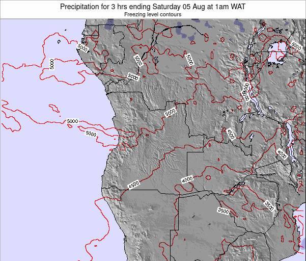 Angola Precipitation for 3 hrs ending Saturday 21 Jul at 7pm WAT map