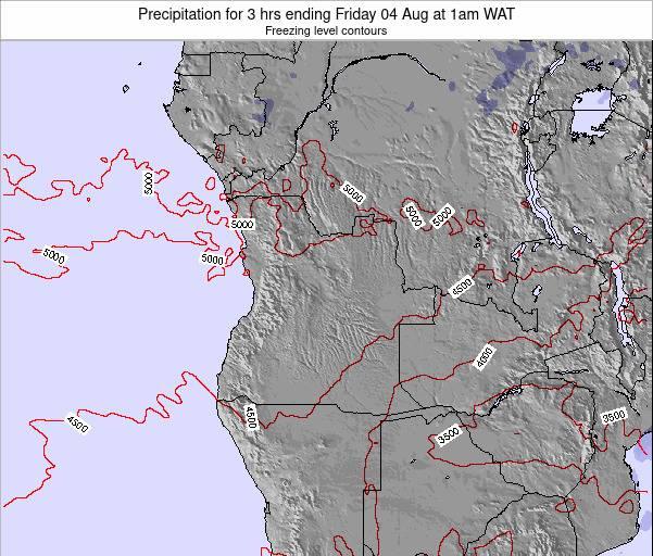 Angola Precipitation for 3 hrs ending Saturday 16 Dec at 7am WAT map