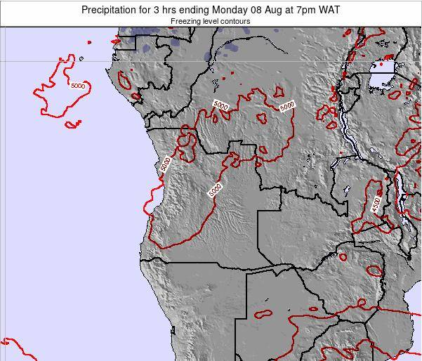 Angola Precipitation for 3 hrs ending Sunday 19 Nov at 7am WAT map