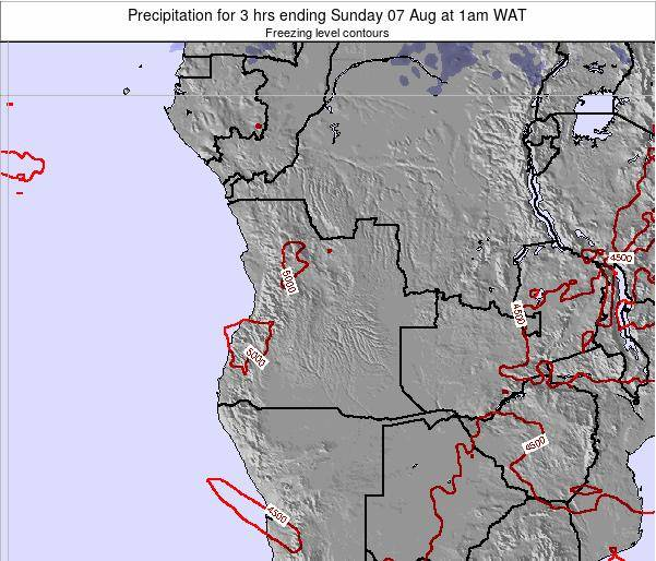 Angola Precipitation for 3 hrs ending Thursday 12 Dec at 1am WAT
