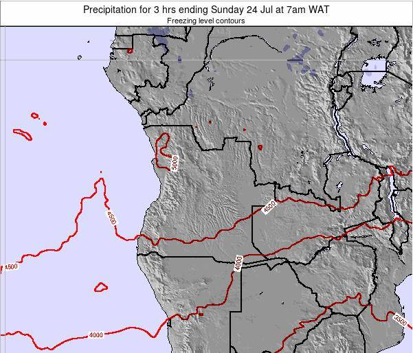 Angola Precipitation for 3 hrs ending Thursday 20 Dec at 1pm WAT map