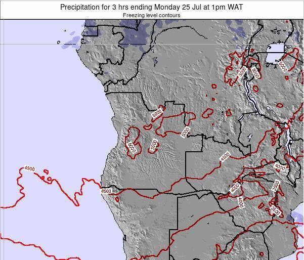 Angola Precipitation for 3 hrs ending Tuesday 25 Sep at 1pm WAT map
