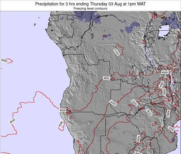 Angola Precipitation for 3 hrs ending Tuesday 21 Nov at 7pm WAT map