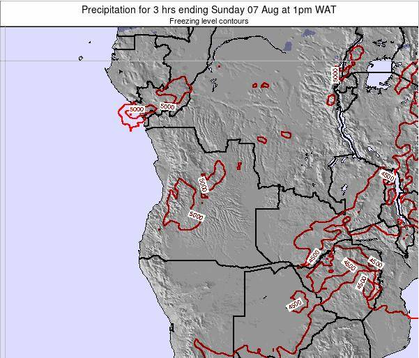 Angola Precipitation for 3 hrs ending Sunday 27 May at 1am WAT map
