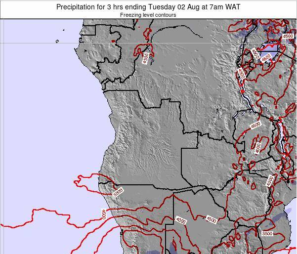 Angola Precipitation for 3 hrs ending Sunday 21 Oct at 1am WAT map