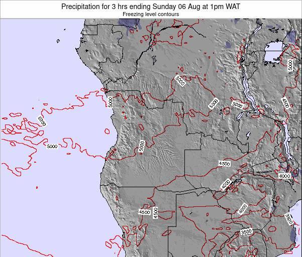 Angola Precipitation for 3 hrs ending Monday 17 Dec at 1am WAT map