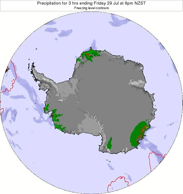 Antarctica Precipitation for 3 hrs ending Friday 31 May at 6pm NZST map