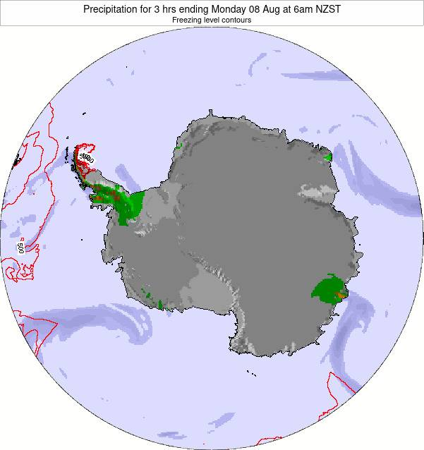 Antarctica Precipitation for 3 hrs ending Friday 31 May at 6am NZST map