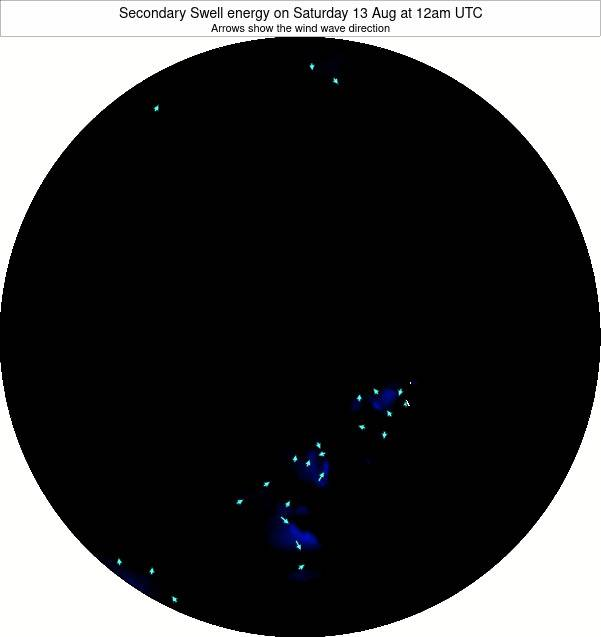 Arctic Secondary Swell energy on Tuesday 25 Sep at 6am UTC map