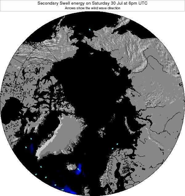 Arctic Secondary Swell energy on Wednesday 30 May at 12pm UTC map