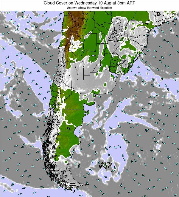 Uruguay Cloud Cover on Sunday 16 Mar at 9am ART
