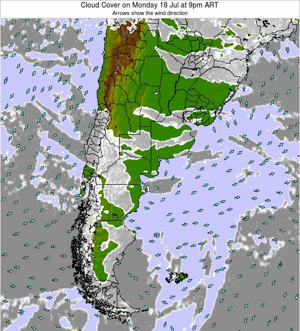 Argentina Cloud Cover on Sunday 26 May at 9am ART