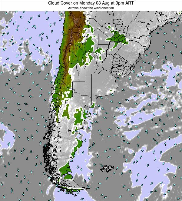Uruguay Cloud Cover on Saturday 15 Mar at 3am ART