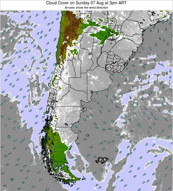 Uruguay Cloud Cover on Saturday 30 May at 9am ART