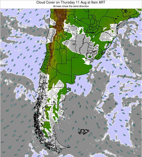 Argentina Cloud Cover on Wednesday 30 Apr at 3am ART