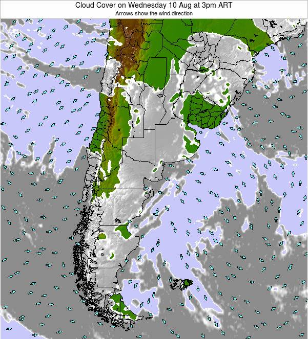 Uruguay Cloud Cover on Friday 14 Mar at 9am ART