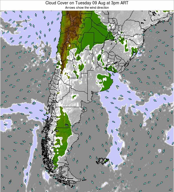 Argentina Cloud Cover on Monday 27 May at 3am ART