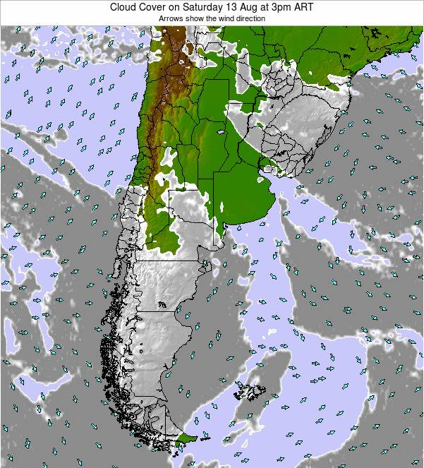 Argentina Cloud Cover on Sunday 16 Mar at 9am ART