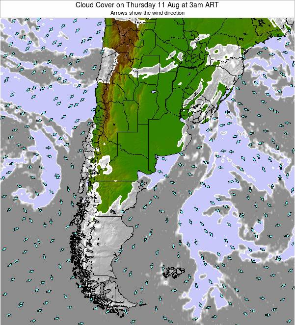 Argentina Cloud Cover on Friday 24 May at 3pm ART