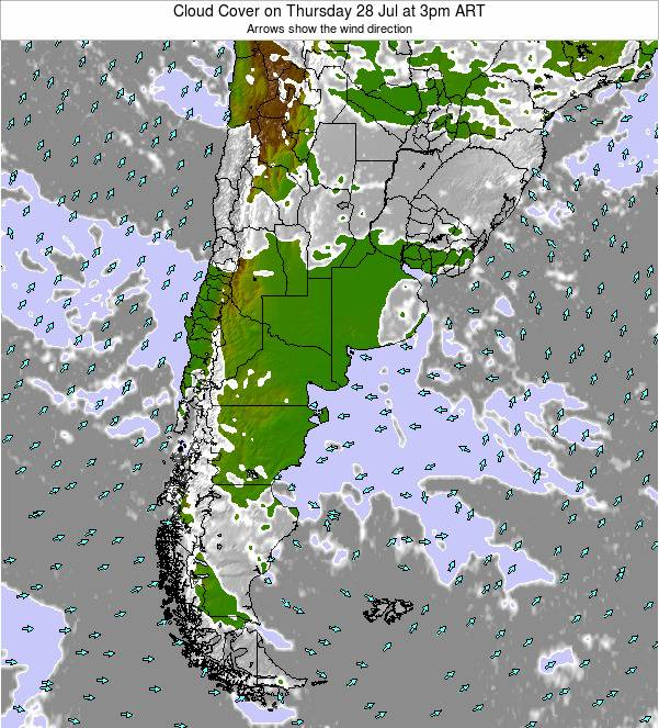 Uruguay Cloud Cover on Friday 16 Dec at 3am ART