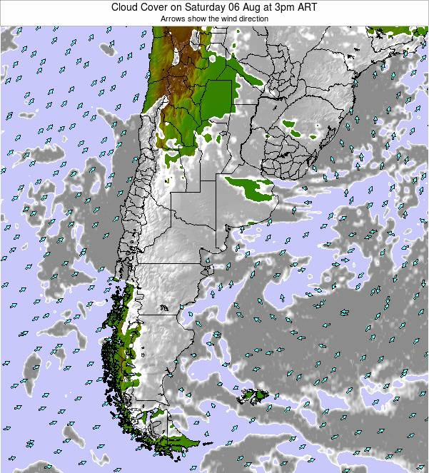 Uruguay Cloud Cover on Thursday 17 Apr at 3am ART