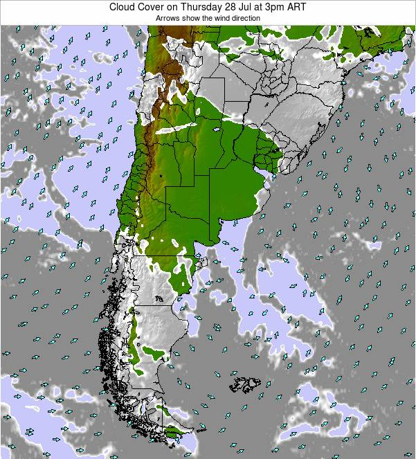 Uruguay Cloud Cover on Friday 13 Dec at 3pm ART