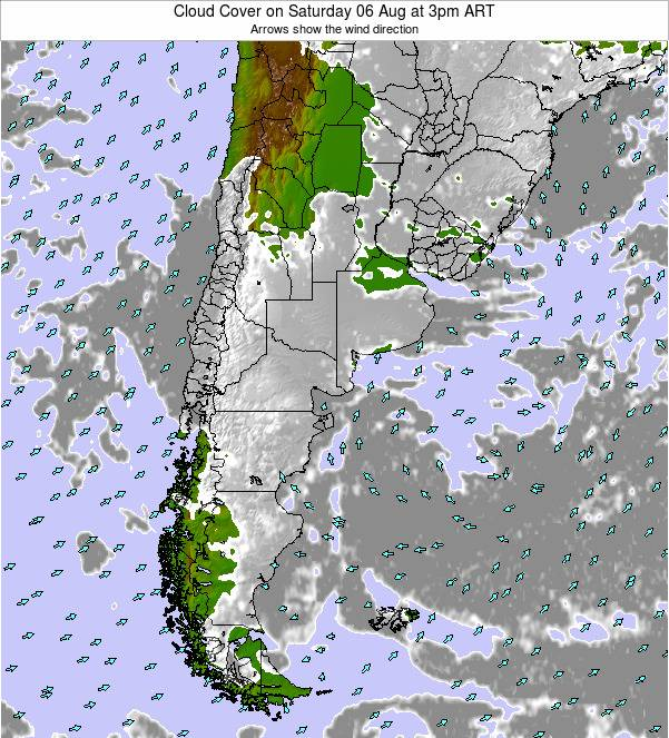 Uruguay Cloud Cover on Saturday 26 Apr at 9am ART