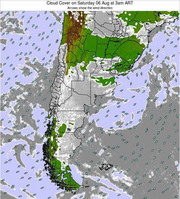 Uruguay Cloud Cover on Wednesday 04 May at 3pm ART