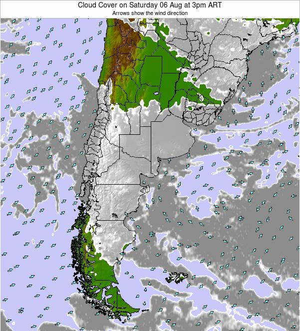 Argentina Cloud Cover on Tuesday 21 May at 3pm ART