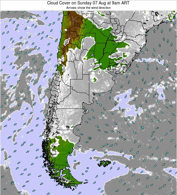 Argentina Cloud Cover on Tuesday 28 May at 9pm ART