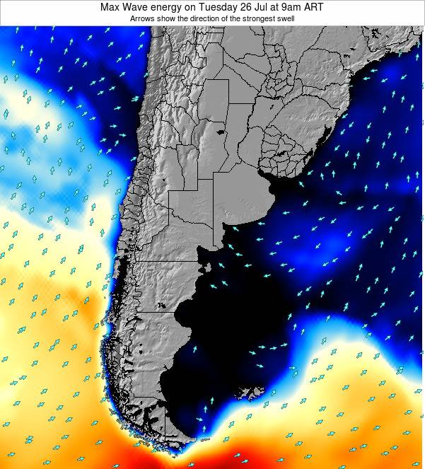 Argentina Max Wave energy on Wednesday 29 May at 3am ART
