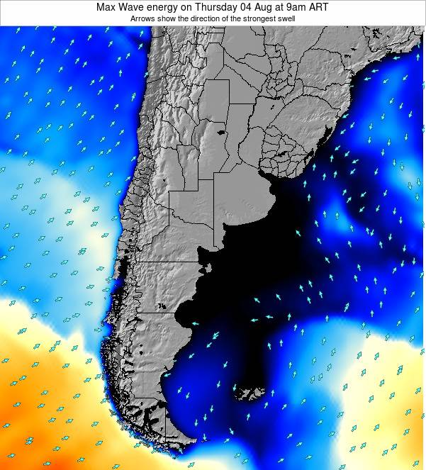 Argentina Max Wave energy on Thursday 23 May at 3pm ART