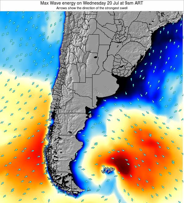 Argentina Max Wave energy on Friday 31 May at 3am ART