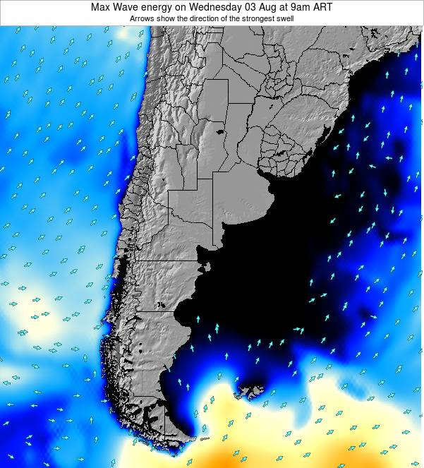 Argentina Max Wave energy on Saturday 25 May at 3am ART