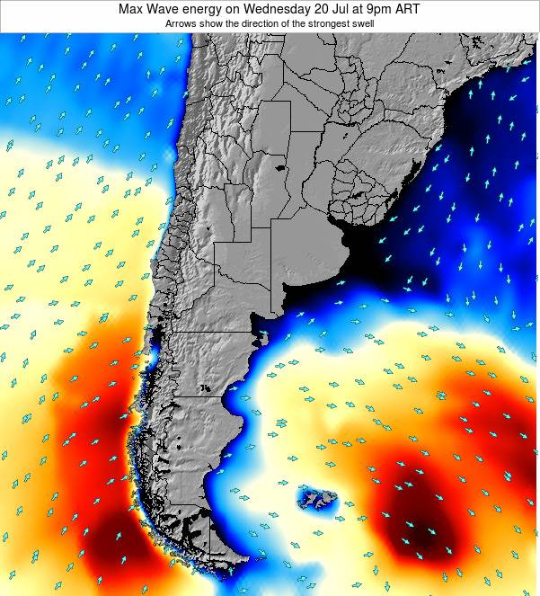 Argentina Max Wave energy on Saturday 25 May at 3pm ART