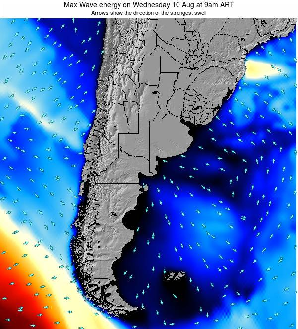 Argentina Max Wave energy on Saturday 18 May at 3pm ART