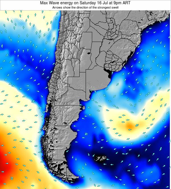Argentina Max Wave energy on Thursday 23 May at 9am ART