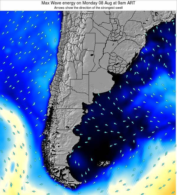Argentina Max Wave energy on Sunday 26 May at 9pm ART