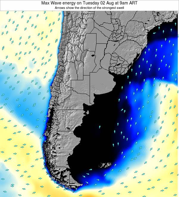 Uruguay Max Wave energy on Monday 27 May at 9am ART