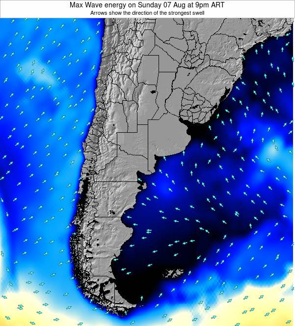 Argentina Max Wave energy on Tuesday 28 May at 9am ART