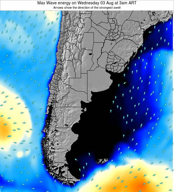 Argentina Max Wave energy on Tuesday 28 May at 9pm ART
