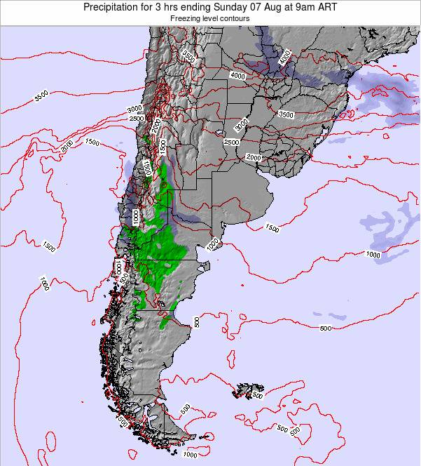 Argentina Precipitation for 3 hrs ending Monday 20 May at 9am ART map